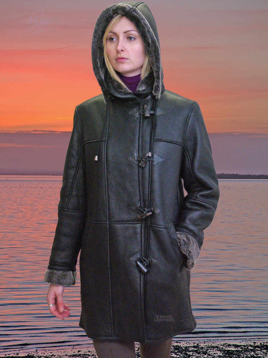 Higgs Leathers {NEW STOCK!}  Doocie (ladies Shearling Duffle coats)
